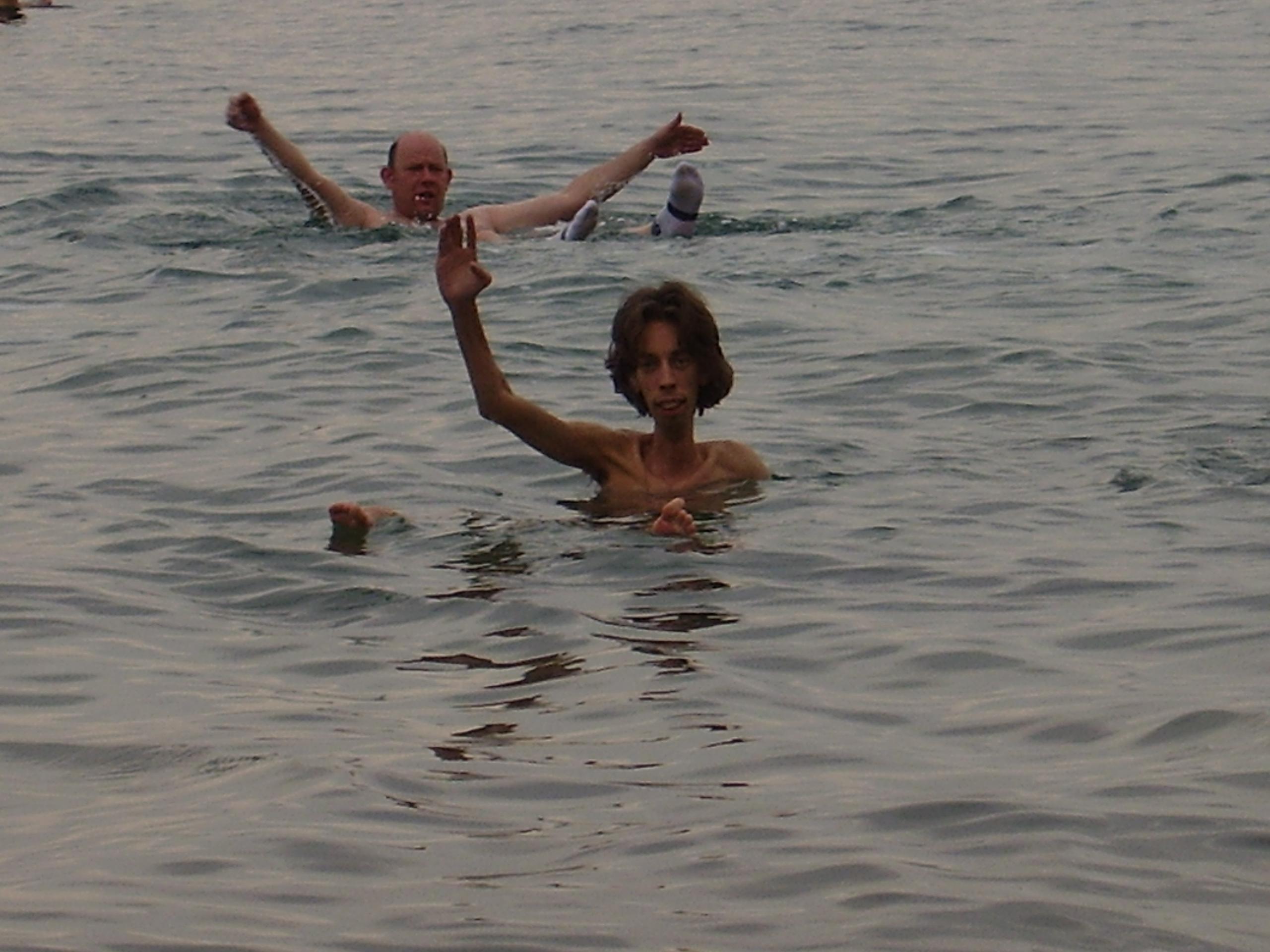 Nico in de Dode Zee